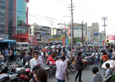 Photo of Chinese city street
